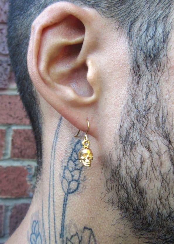 Skull Earrings Gold