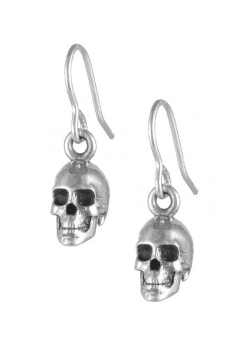 Skull Earrings Sterling Silver