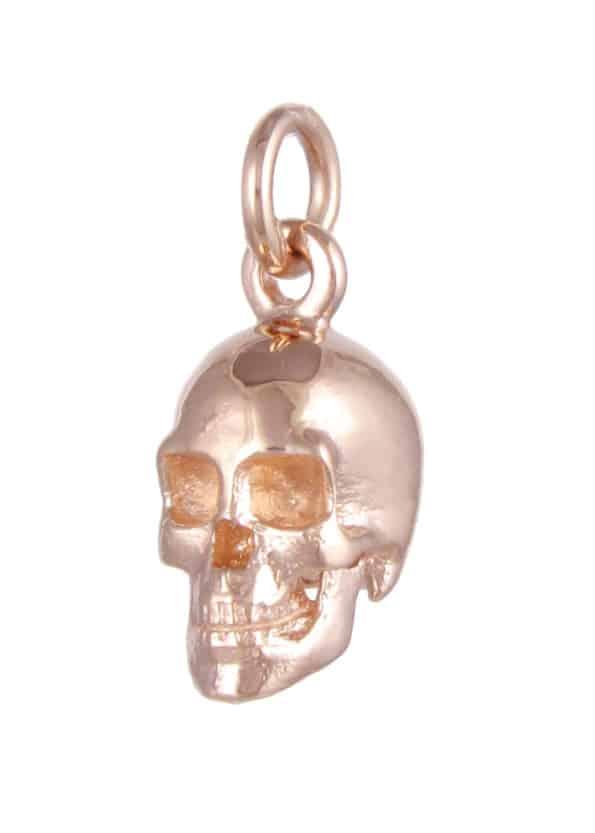 Large Skull Pendant Rose Gold