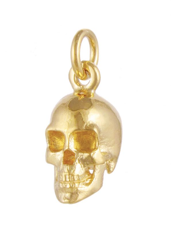 Large Skull Pendant Gold