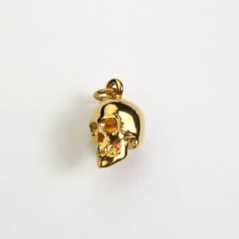 Large Skull Pendant Gold Vermeil