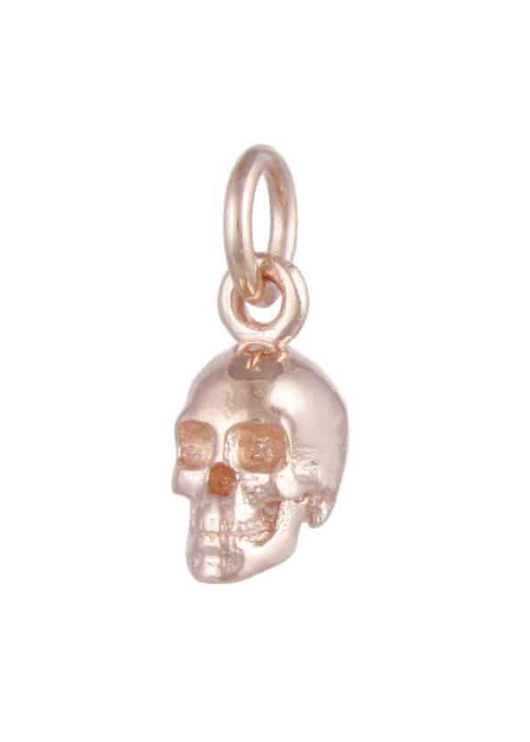 Small Skull Pendant Rose Gold