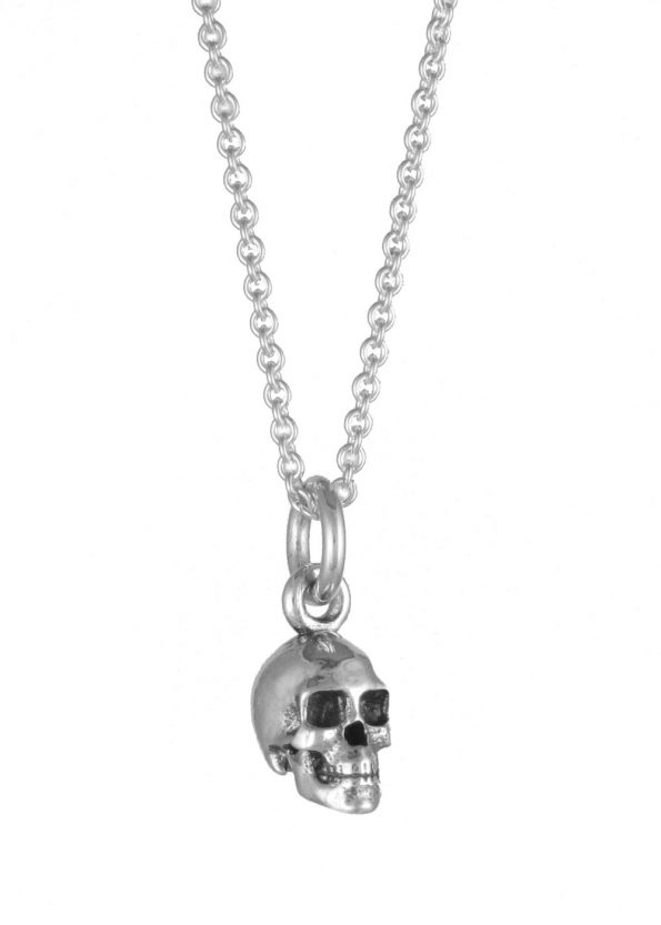 Small Skull Necklace Silver