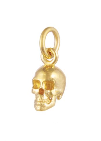 Small Skull Pendant Gold