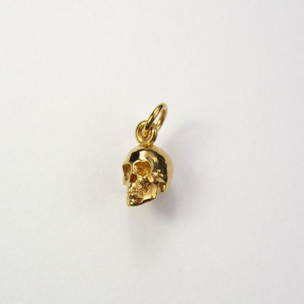 Small Skull Pendant Gold Vermeil