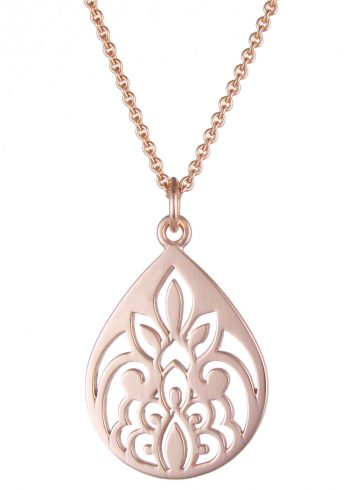 Teardrop Necklace Rose Gold
