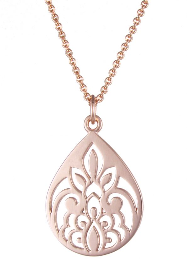 Dominique Holmes Teardrop Necklace Rose Gold