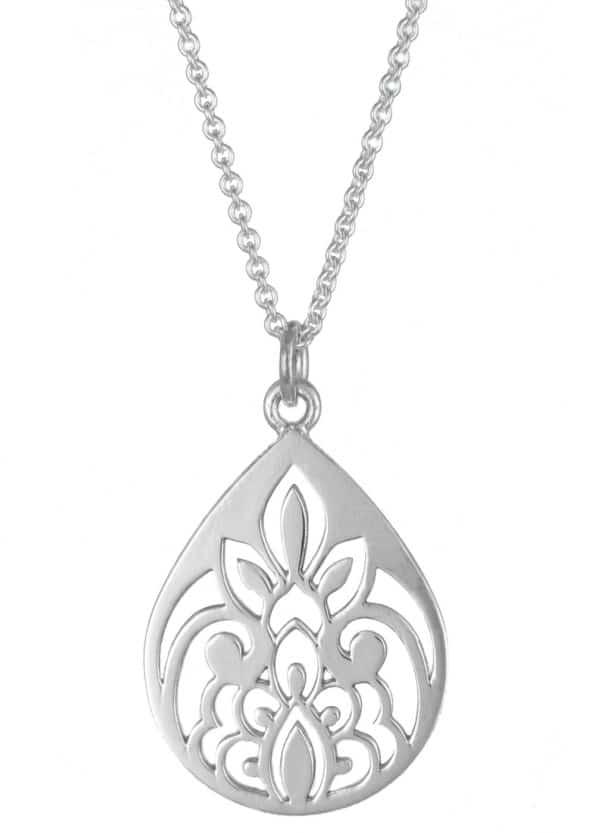 Dominique Holmes Teardrop Necklace Silver