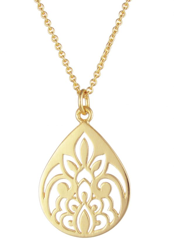 Dominique Holmes Teardrop Necklace Gold