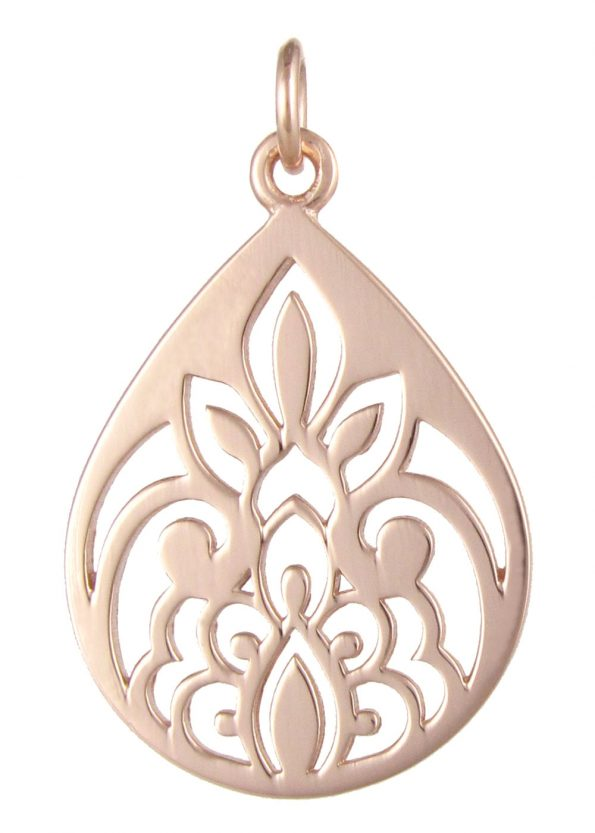 Dominique Holmes Teardrop Pendant Rose Gold