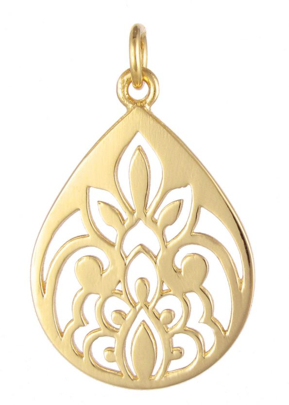 Dominique Holmes Teardrop Pendant Gold