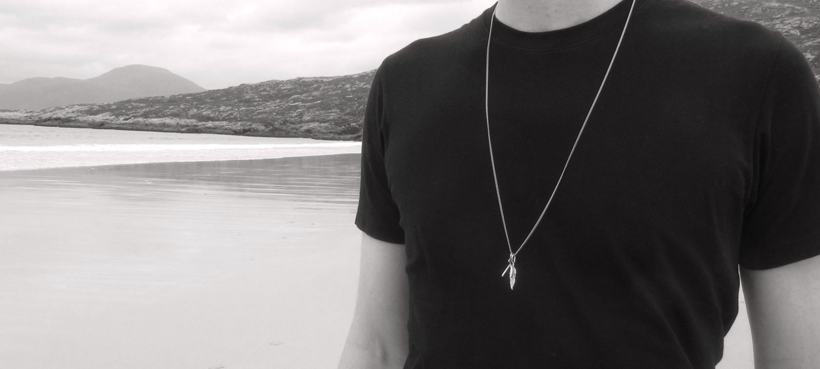 BANNER-JOHN-BW-2 Astrape Coin Necklace