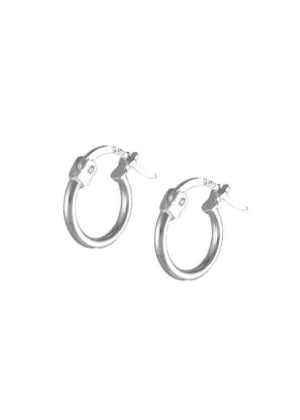 11mm Hoop Earrings Silver