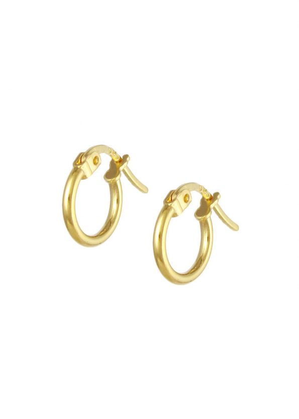 11mm Hoop Earrings Gold