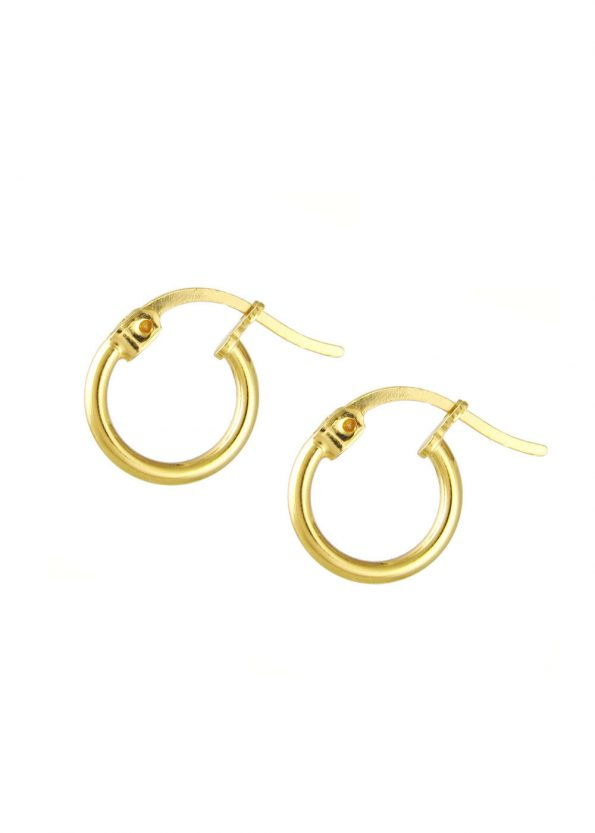 12mm Hoop Earrings Gold