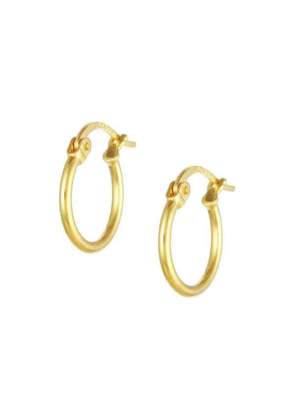 14mm Hoop Earrings Gold