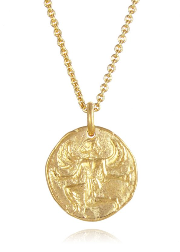 Astrape Coin Necklace Gold