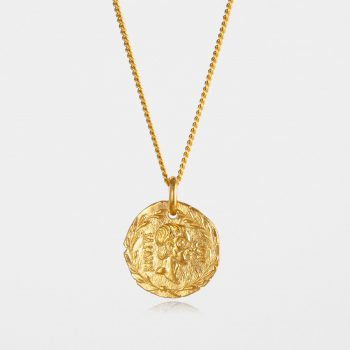 Brutus Coin Necklace Gold Vermeil