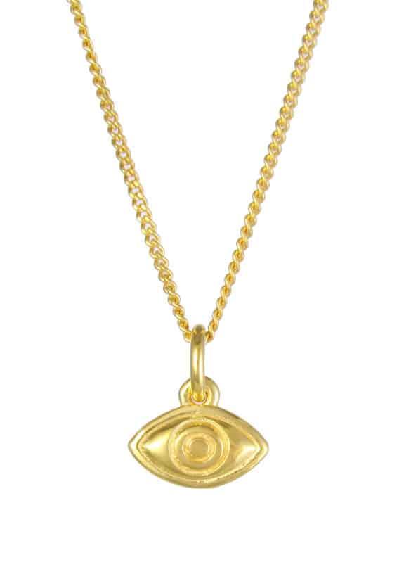 Eye Necklace Gold