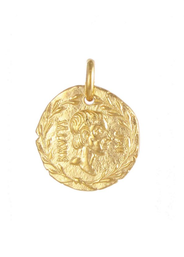 Brutus Coin Pendant Gold
