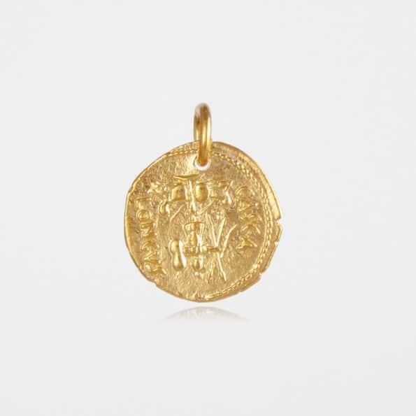 Brutus Coin Pendant Gold Vermeil