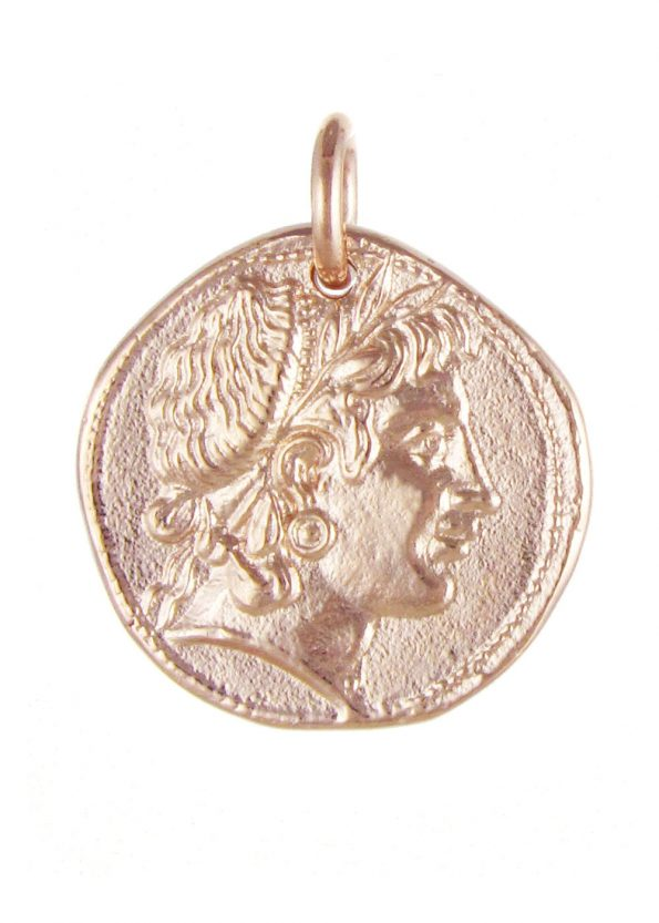 Demeter Coin Pendant Rose Gold