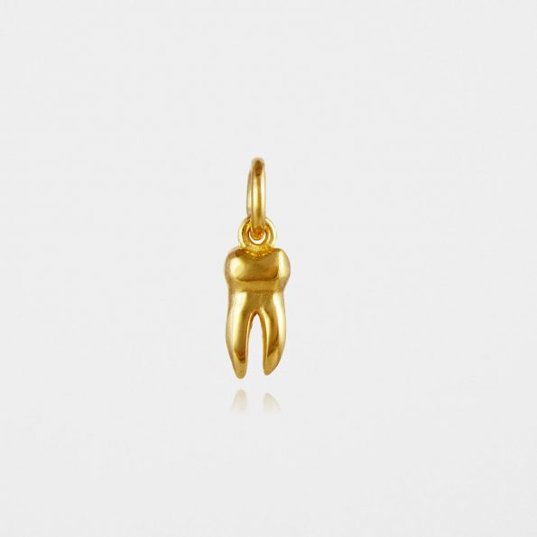 Small Tooth Pendant Gold Vermeil