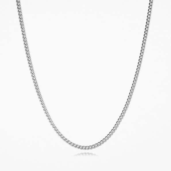 Heavy Curb Chain Silver