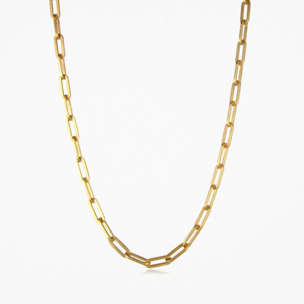 Square Trace Chain Gold Vermeil