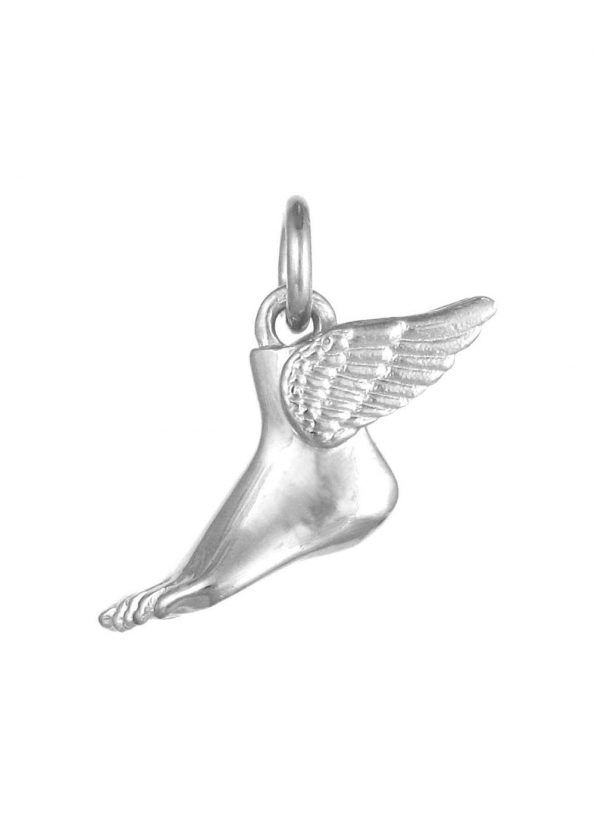 Winged Foot Pendant Silver