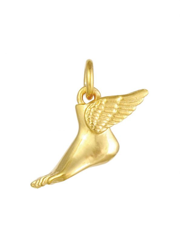 Winged Foot Pendant Gold