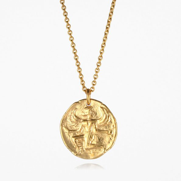 Astrape Coin Necklace Gold Vermeil