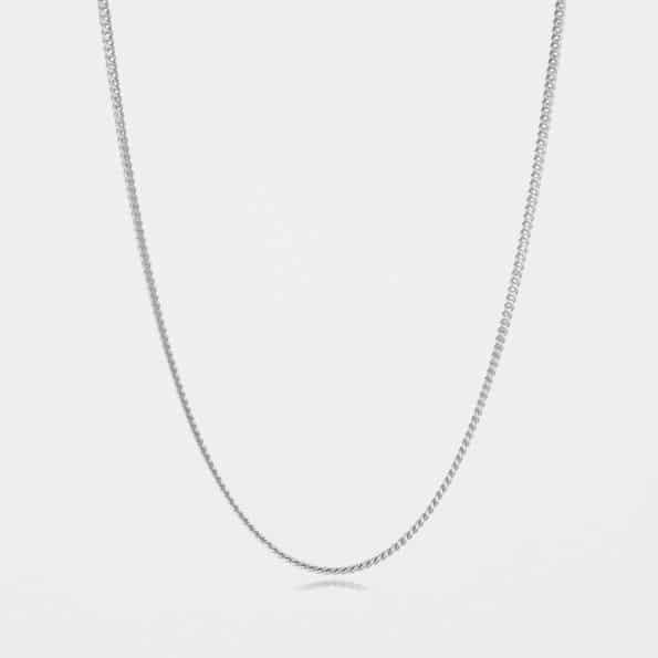 Fine Curb Chain Silver
