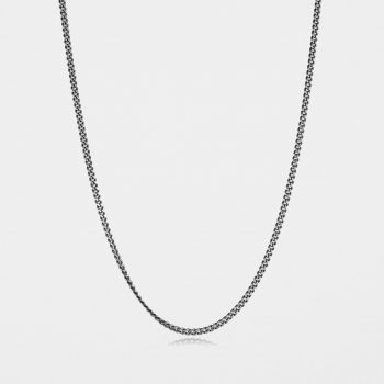 Medium Curb Chain Oxidised Silver