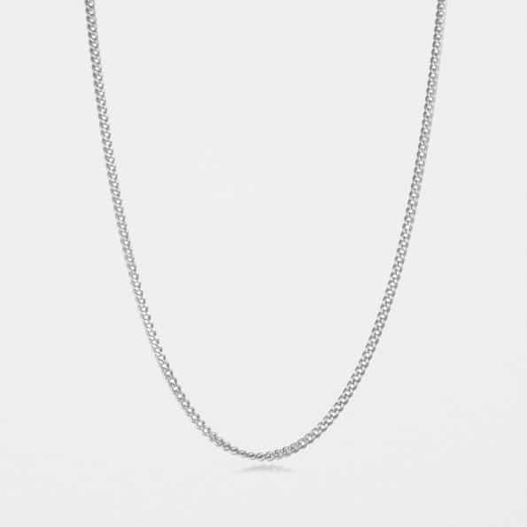 Medium Curb Chain Silver