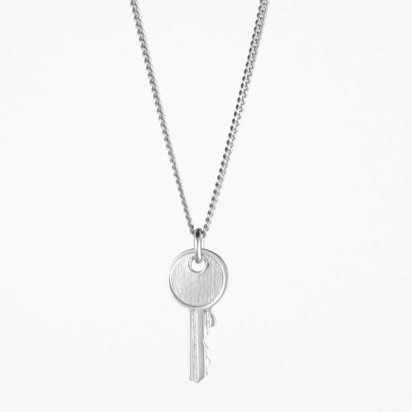 Small Key Necklace Silver