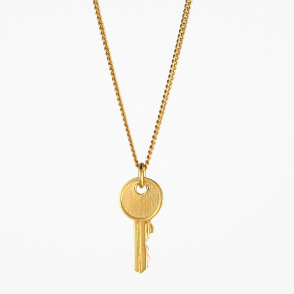 Small Key Necklace Gold Vermeil