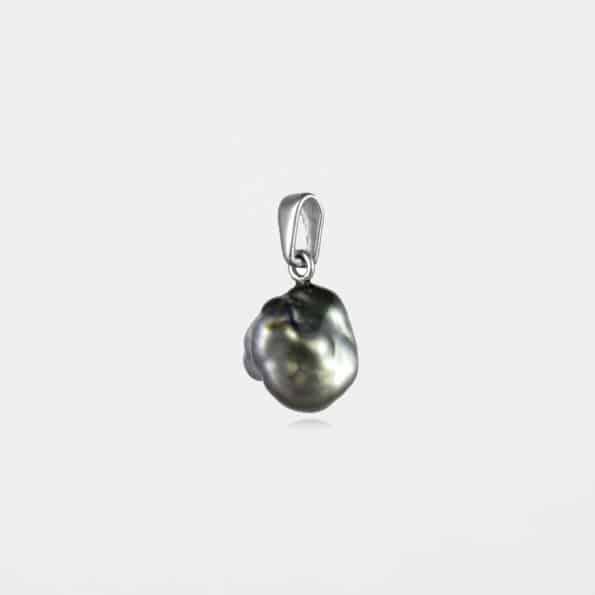 Black Pearl Pendant Silver