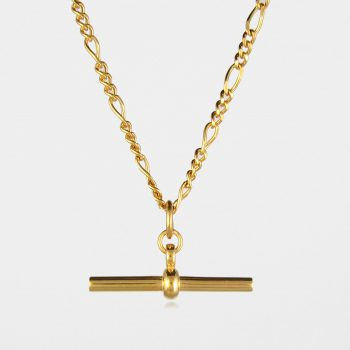 T Bar Figaro Necklace Gold Vermeil
