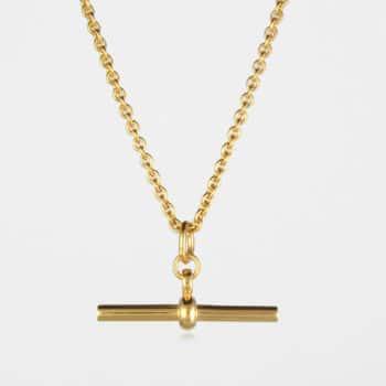 T Bar Trace Necklace Gold Vermeil