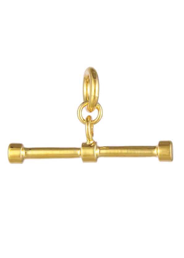 T Bar Pendant Gold Vermeil