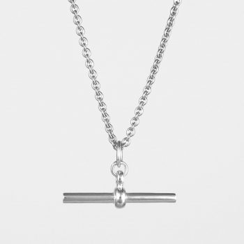 T Bar Trace Necklace Silver