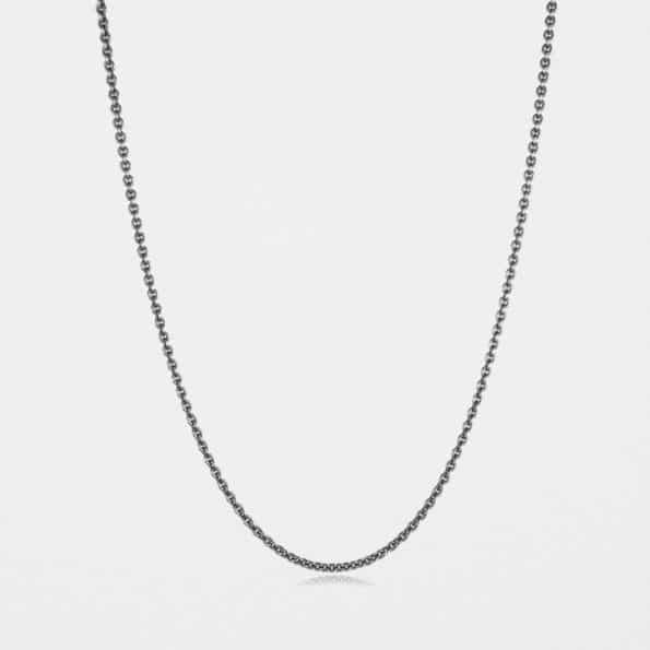 Fine Trace Chain Oxidised Silver