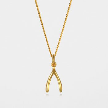 Wishbone Necklace Gold Vermeil