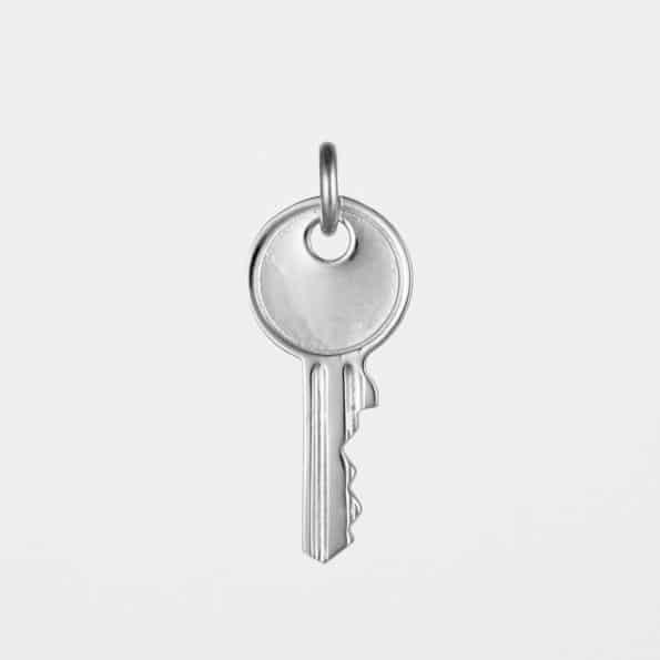 Large Key Pendant Silver
