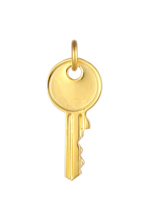 Large Key Pendant Gold Vermeil