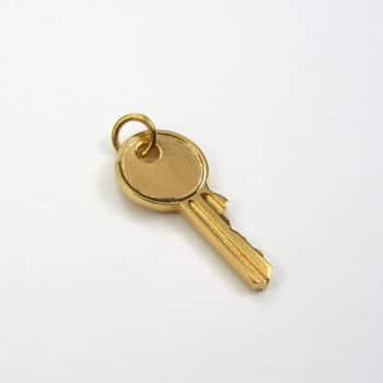 Large Key Pendant Gold Vermeil
