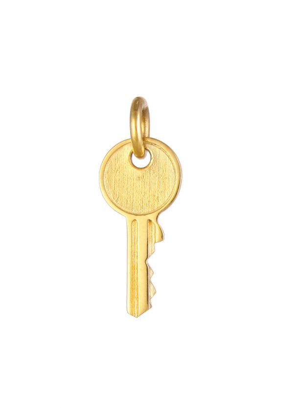 Small Key Pendant Gold Vermeil