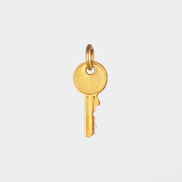 Small Key Pendant Gold Vermeil