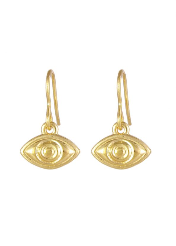 Eye Earrings Gold Vermeil